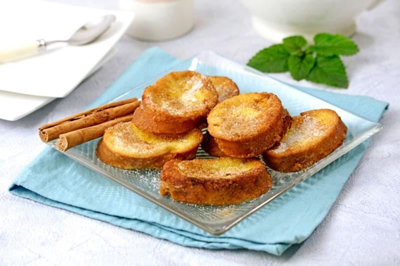 Recipes for cooking: Torrijas with extra virgin olive oil Spelunca Espluga Calba DO Garrigues