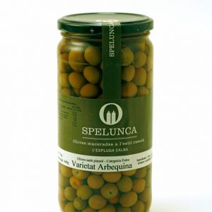 Arbequina variety olives with stone
