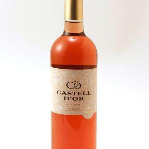 Rose gold castle wine
