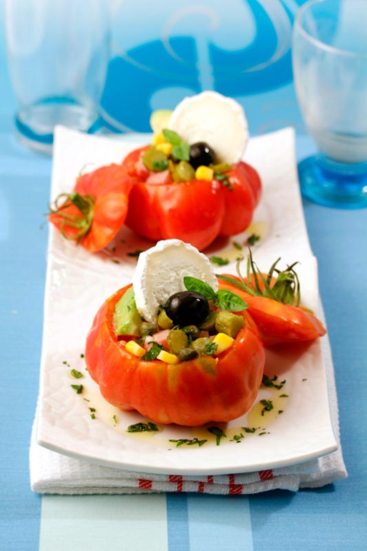TOMATOES STUFFED WITH GOAT CHEESE
