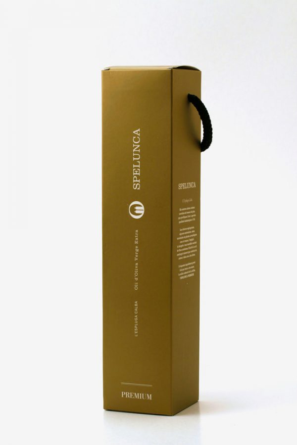 Botella de 0,50 L. Aceite Spelunca Premium con estuche de regalo