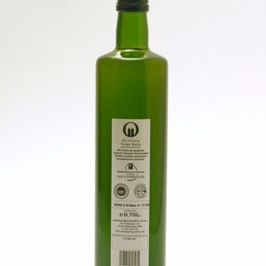 Botella de 0,75 L etiqueta blanca. Aceite de Oliva Virgen Extra Spelunca 100% arbequina
