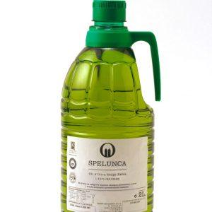 Garrafa 2 litros etiqueta blanca aceite de oliva extra virgen 100% arbequina