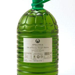 Garrafa 5 litros etiqueta blanca aceite de oliva extra virgen 100% arbequina