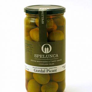 Aceitunas Gordal Picante verdes con hueso
